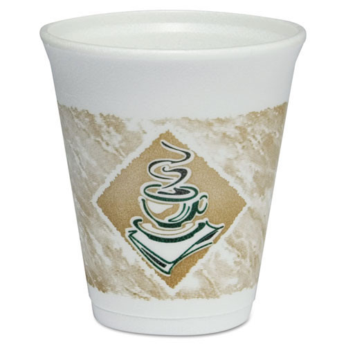 Cafe G design printed foam cups 8oz cups lids sold separately case of 1000 Dart Dcc8x8g