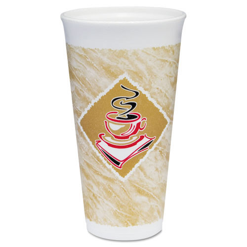 Cafe G design printed foam cups 20oz cups lids sold separately case of 500 Dart Dcc20x16g