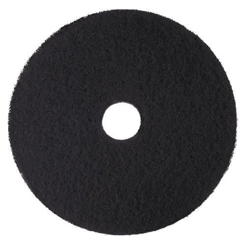 3M 7300 High Productivity black strip floor pads MMM08279 21 inch for stripping floor finish up to 600 rpm case of 5 pads replaces MCO08279