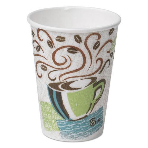 Dixie paper hot cups 8oz Perfect Touch case of 500 replaces Dix5338dx DXE5338DX