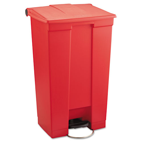 Rubbermaid 6146red step on trash can 23 gallon receptacle mobile red