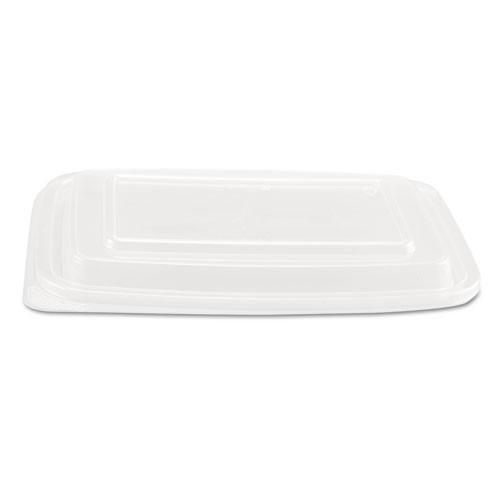 Rectangular plastic food container lids smart set pro fits smart set pro rectangular containers case of 300 lids Genpak gnpfpr932
