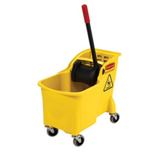 Rubbermaid 7380yel mop bucket wringer combo 31 quart tandem replaces rcp7380yel rcp738000yel