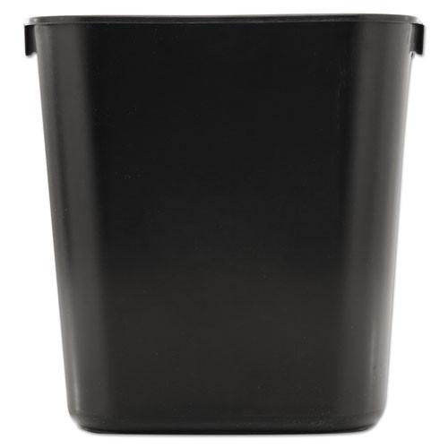 Rubbermaid 2955bla trash can wastebasket 3.5 gallon plastic rectangle black replaces rcp2955bla rcp295500bk