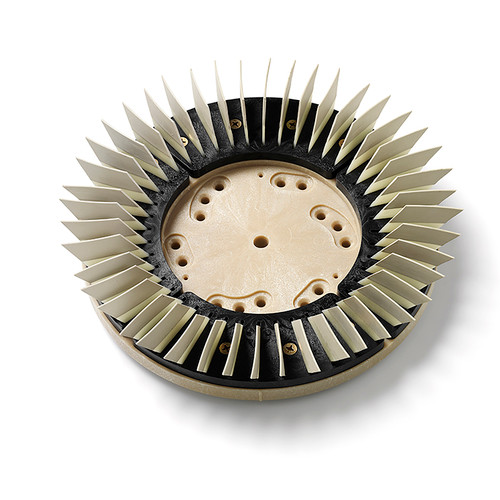 Diamabrush concrete polishing tool Step 6 tan 2000 grit 91130126092 diamond polymer bonded multi directional blades fits most 15 inch floor machines 13 inch block with 92 clutch plate by Malish