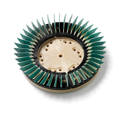 Diamabrush concrete polishing tool Step 4 green 400 grit 91170124092 diamond polymer bonded multi directional blades fits most 19 inch floor machines 17 inch block with 92 clutch plate by Malish