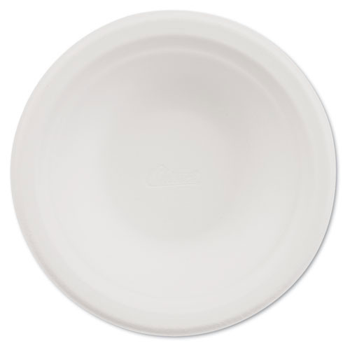 Paper white bowl round chinet premium strength paper dinnerware 12oz size case of 1000 bowls huhtamaki huh21230