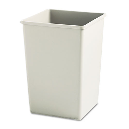 Rubbermaid 3958bei trash can Untouchable 35 gallon container square beige replaces rcp3958bei rcp395800bg