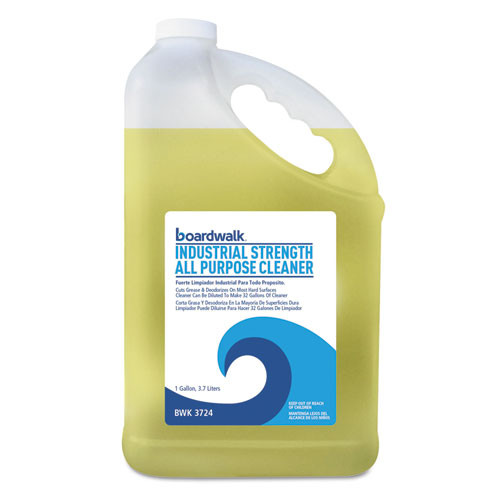 Boardwalk BWK3724 all purpose cleaner for grease grime and dirt 1 gallon refill bottles case of 4 bottles replaces BWK2424CT
