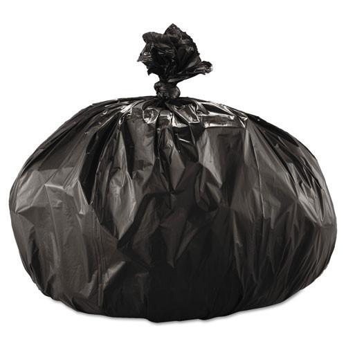 Boardwalk BWK522 60 gallon trash bags case of 100 black 43x47 linear low 2.00 mil eqv extra heavy duty strength coreless rolls