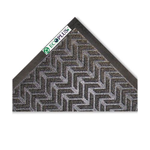 Door mat indoor wiper scraper mat eco plus floor mat 35x59 charcoal replaces croecr35cha Crown cwnecr035ch