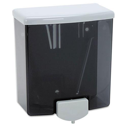 Bobrick BOB40 liquid soap dispenser abs plastic black gray 40oz