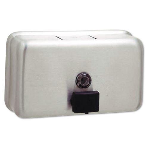 Bobrick BOB2112 stainless steel liquid soap dispenser 40oz