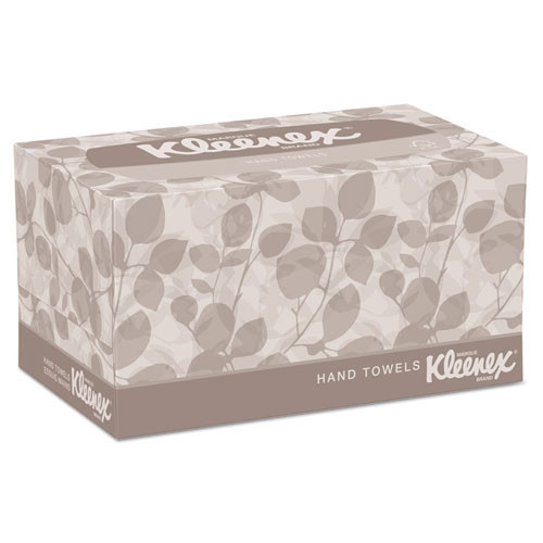 Kleenex KCC01701CT paper hand towels singlefold in pop up box white 9x10.5 inch sheet size 120 towels per box case of 18 pop up boxes