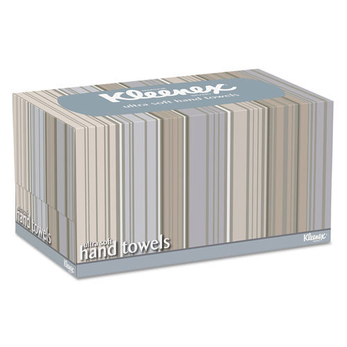 Kleenex KCC11268CT paper hand towels singlefold ultra soft in pop up box white 8.9x10 inch sheet size 70 towels per box case of 18 pop up boxes