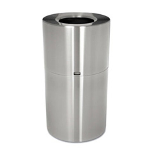 Rubbermaid aot35sapl trash can aluminum atrium 35 gallon satin epoxy finish replaces rcpaot35sapl rcpaot35sanl