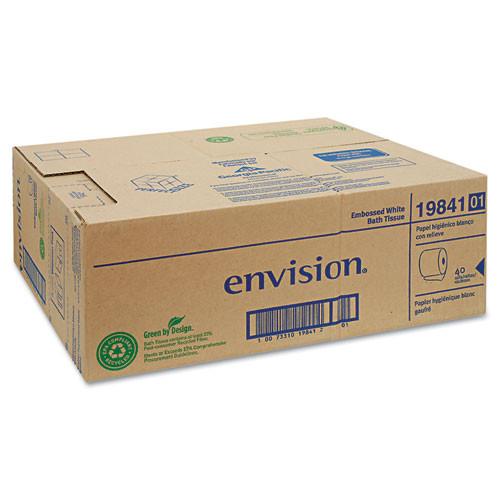 Georgia Pacific GPC1984101 embossed bathroom tissue 1 ply 40 rolls per carton