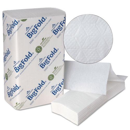 Georgia Pacific GPC33587 bigfold paper towels 10.2x10 4 5 white 220 pack 10 packs carton
