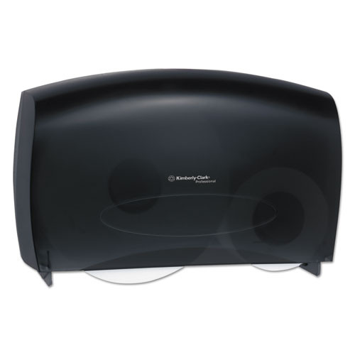 Kimberly Clark KCC09551 cored jrt jumbo combo tissue dispenser 20.4wx5 4 5dx13 1 10h smoke gray