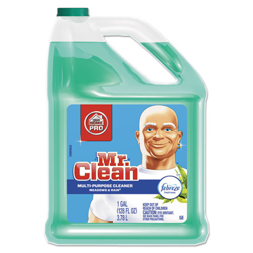 Mr Clean PGC23124CT multipurpose cleaning solution with febreze 128 oz bottle meadows and rain scent