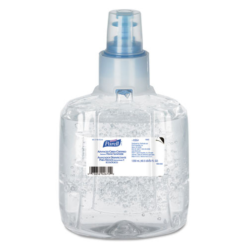 Purell GOJ190302CT advanced green certified hand sanitizer refill 1200ml fragfree 2 carton