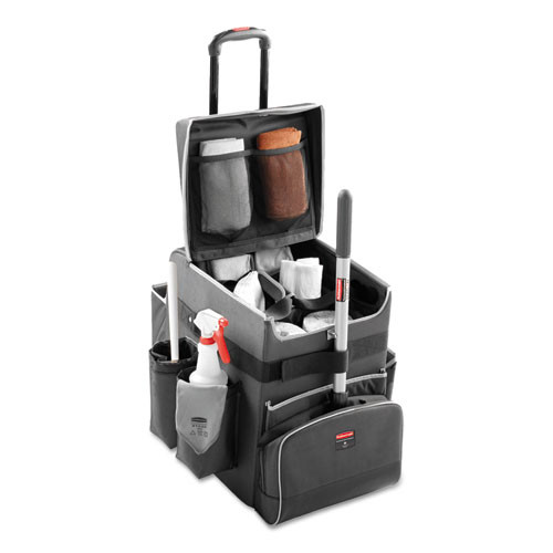 Rubbermaid RCP1902467 executive quick cart small 14.25x16.5x17 dark gray