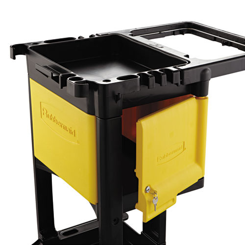 Rubbermaid RCP6181YEL locking cabinet for rubbermaid commercial cleaning carts yellow