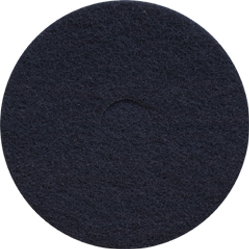 Black Strip Floor Pads 12 inch standard speed up to 350 rpm case of 5 pads by Cleaning Stuff 12BLACK GW