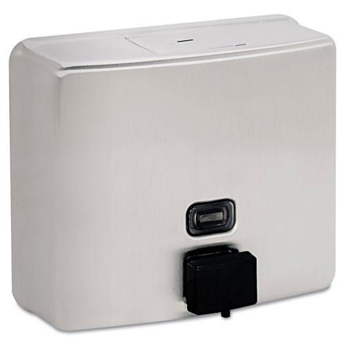 Bobrick BOB4112 Contura stainless steel liquid soap dispenser 46oz