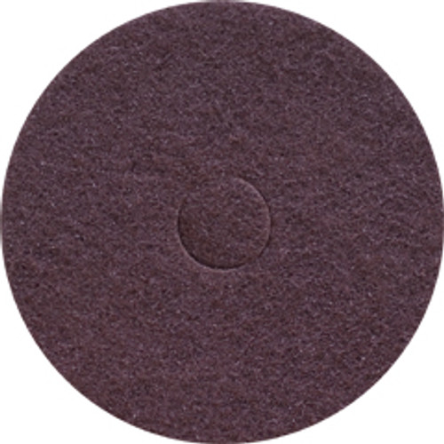 Brown Strip Floor Pads 12 inch standard speed up to 350 rpm case of 5 pads by Cleaning Stuff 12BROWN GW