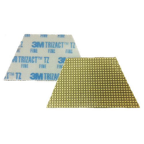 3M 86020 Trizact Diamond TZ Pads blue fine grit for polishing concrete or stone 4 trapezoid pads per box case of 4 boxes case of 16 pads 860203M gw