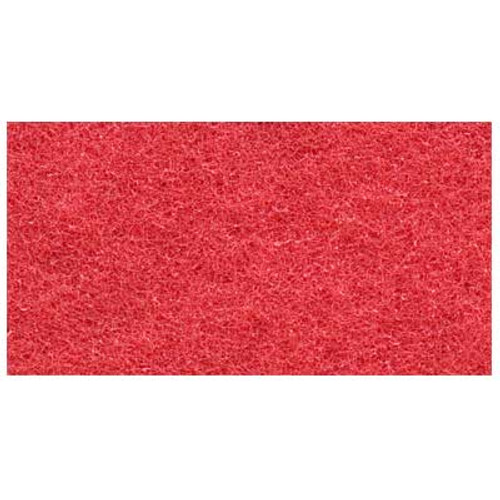 Red Clean and Buff Floor Pads 11x14 inch rectangle standard 175 to 300 rpm case of 5 pads by ETC 701114 GW