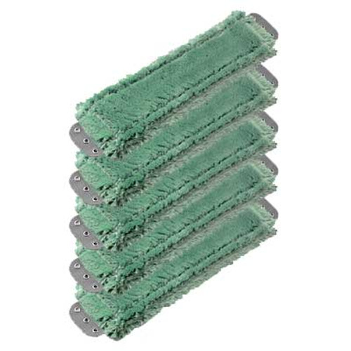 Unger MM400GW SmartColor green antibacterial microfiber mops heavy duty 16x5 launderable case of 5 GW