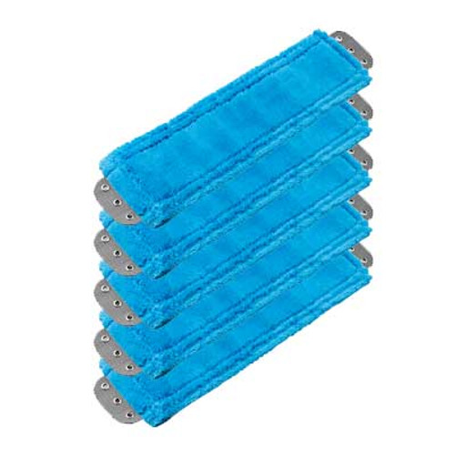 Unger MM40BGW SmartColor blue antibacterial microfiber mops heavy duty 16x5 launderable case of 5 GW