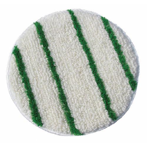 ScrubStrip Carpet Bonnet 21 inch with scrub strips by Cleaning Stuff case of 2 bonnets 21BONNET
