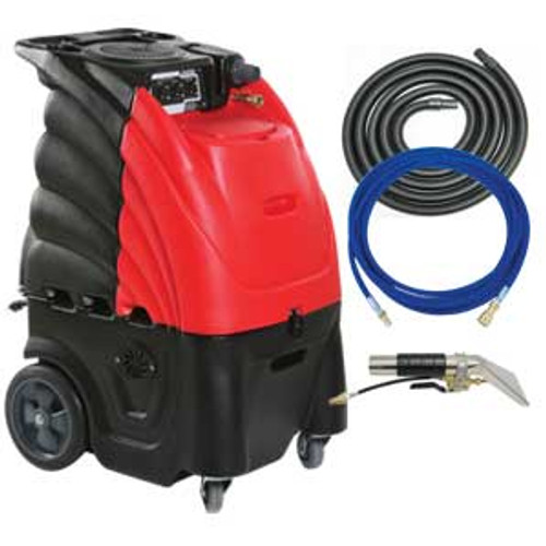 Sandia Indy Automotive 804000h auto detail upholstery cleaner carpet extractor with heater 12 gallon canister with hand tool hose kit 3 stage motor 100psi pump
