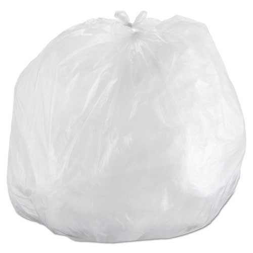 Ibs ibss434816n 56 gallon trash bags case of 200 clear 43x48 high density 16 mic extra heavy duty strength premium coreless rolls