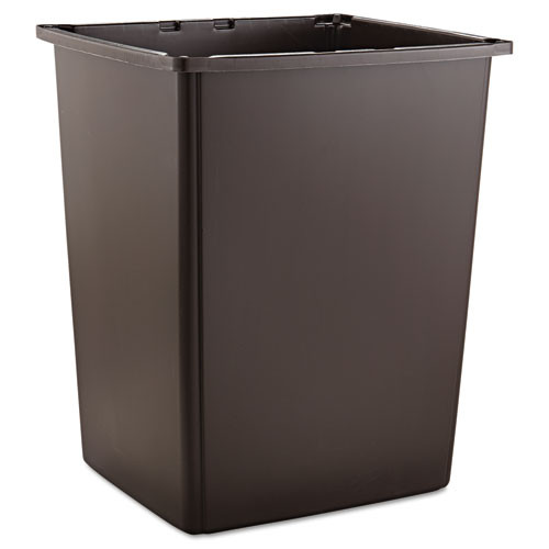 Rubbermaid 256bbro trash can Glutton 56 gallon container brown
