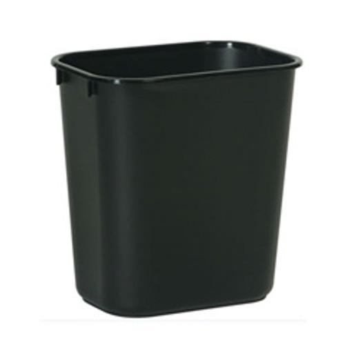Rubbermaid 2956bla trash can 7 gallon wastebasket plastic rectangle black replaces rcp2956bla rcp295600bk
