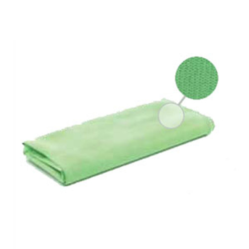 Microfiber Cleaning Cloths Green for Glass And Mirrors 16x16 Inches case of 12 Lambskin MfcG25612D
