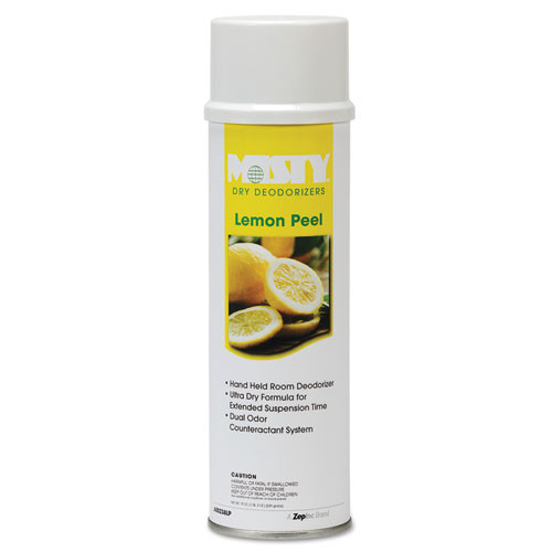 Misty deodorizer plus air freshener lemon peel aerosol 10oz can case of 12 replaces AMRA23820LP amrep AMR1001842