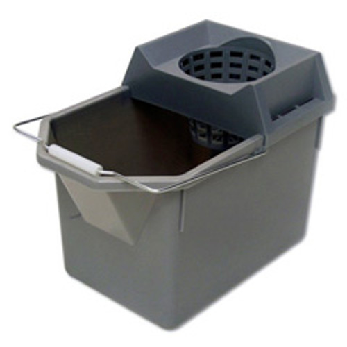 Rubbermaid 6194stl mop bucket 15 quart funnel shaped sieve wringer combo grey