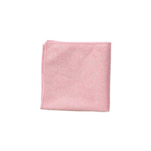 Rubbermaid 1820581 microfiber cleaning cloths red 16x16 inch case of 24 cloths
