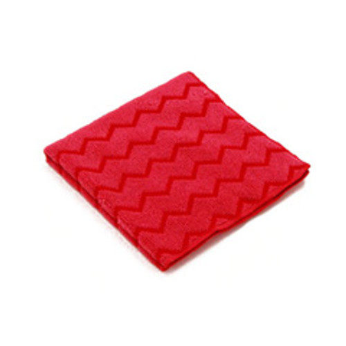 Rubbermaid q620red microfiber cleaning cloths red for all purpose cleaning 16 inch x 16 inch case of 12