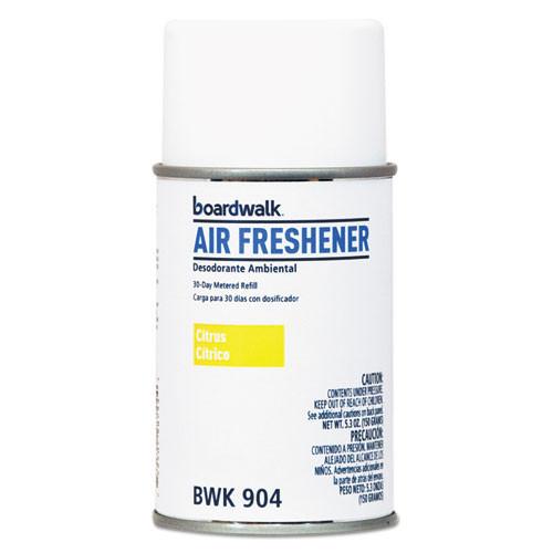 Boardwalk automatic air freshener refills citrus sunrise 5.3oz size case of 12 replaces BLT863 BOL863