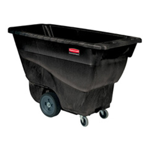 Rubbermaid 9t13bla tilt truck made of structural foam 0.5 cubic yard 450 lb. black