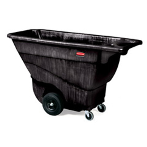 Rubbermaid 9t14bla tilt truck made of structural foam 0.5 cubic yard 850 lb. black