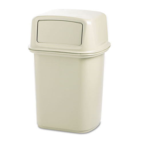 Rubbermaid 917188bei Ranger trash cans 45 gallon Ranger container with two doors beige replaces rcp917188bei rcp917188bg