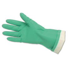 Nitrile Gloves Flock Lined Green 15 Mil CRW5319E