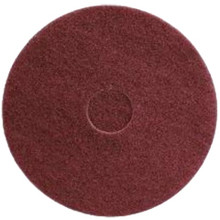 Maroon Strip Floor Pads 12 inch standard speed up to 350 rpm